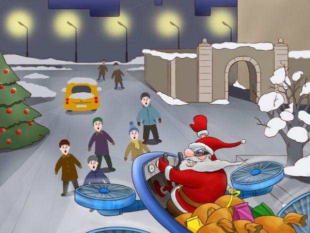 Santa y los drones