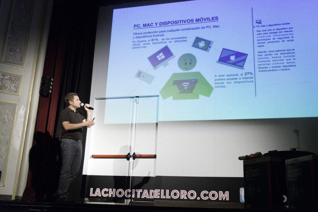 Pedro García en la presentación de Kaspersky 2016