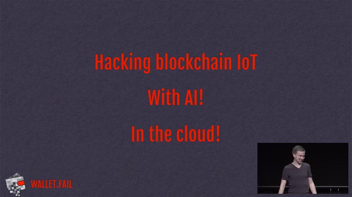Hackeo de un dispositivo informático de la cadena de bloques con IA en la nube