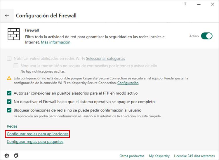 Cómo configurar el firewall en Kaspersky Internet Security para que no interfiera con la operativa de Steam
