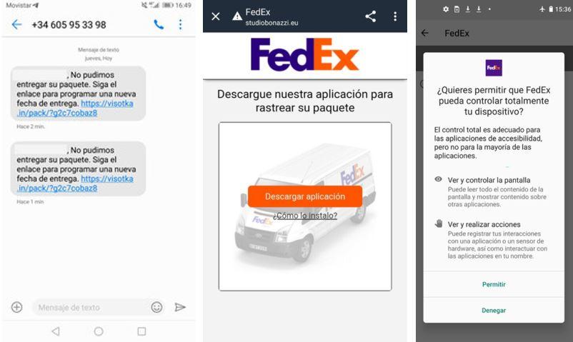 estafa SMS Fedex