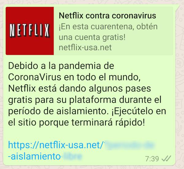 netflix gratis estafa