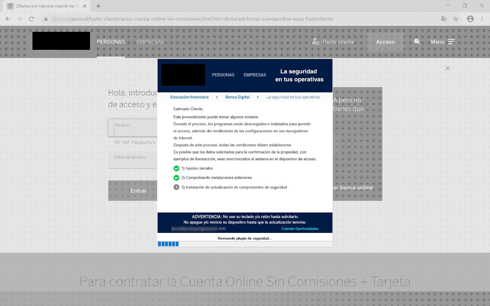 Troyano bancario España