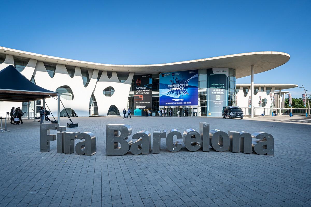 Fira Gran Via Barcelona extrañamente sin gente