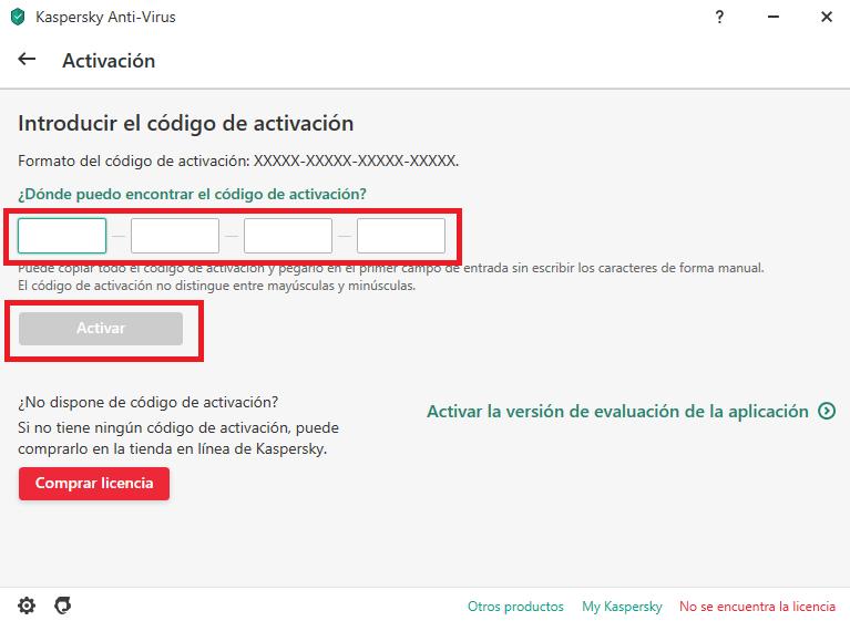 Cómo añadir una licencia en un dispositivo nuevo utilizando un código de activación