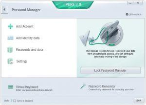 password manager PURE