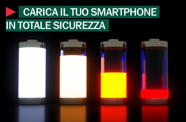 caricare batteria smartphone