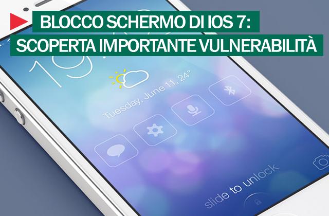 Blocco schermo iOS7