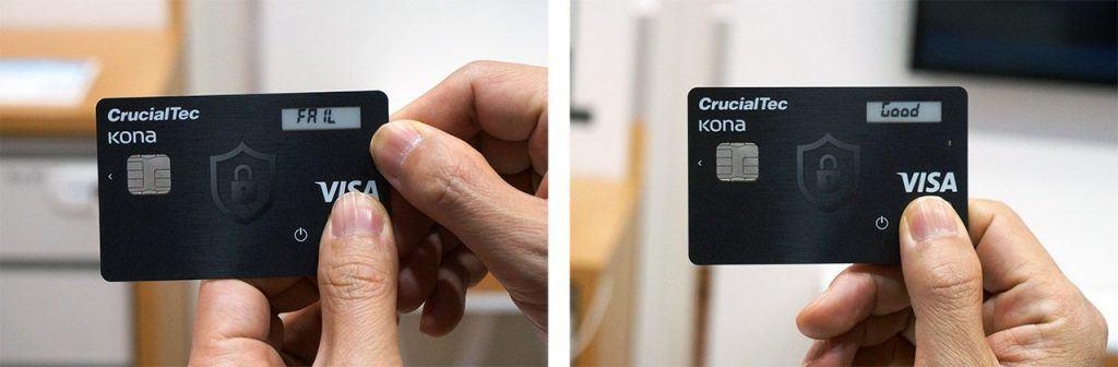 MWC 2017: bank card with fingerprint sensor