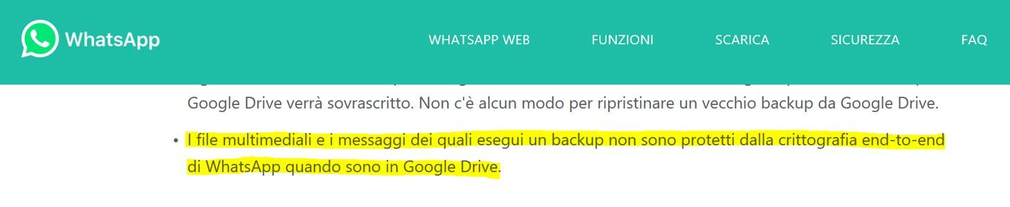 Whatsapp Su Android E Backup Delle Chat Blog Ufficiale Di