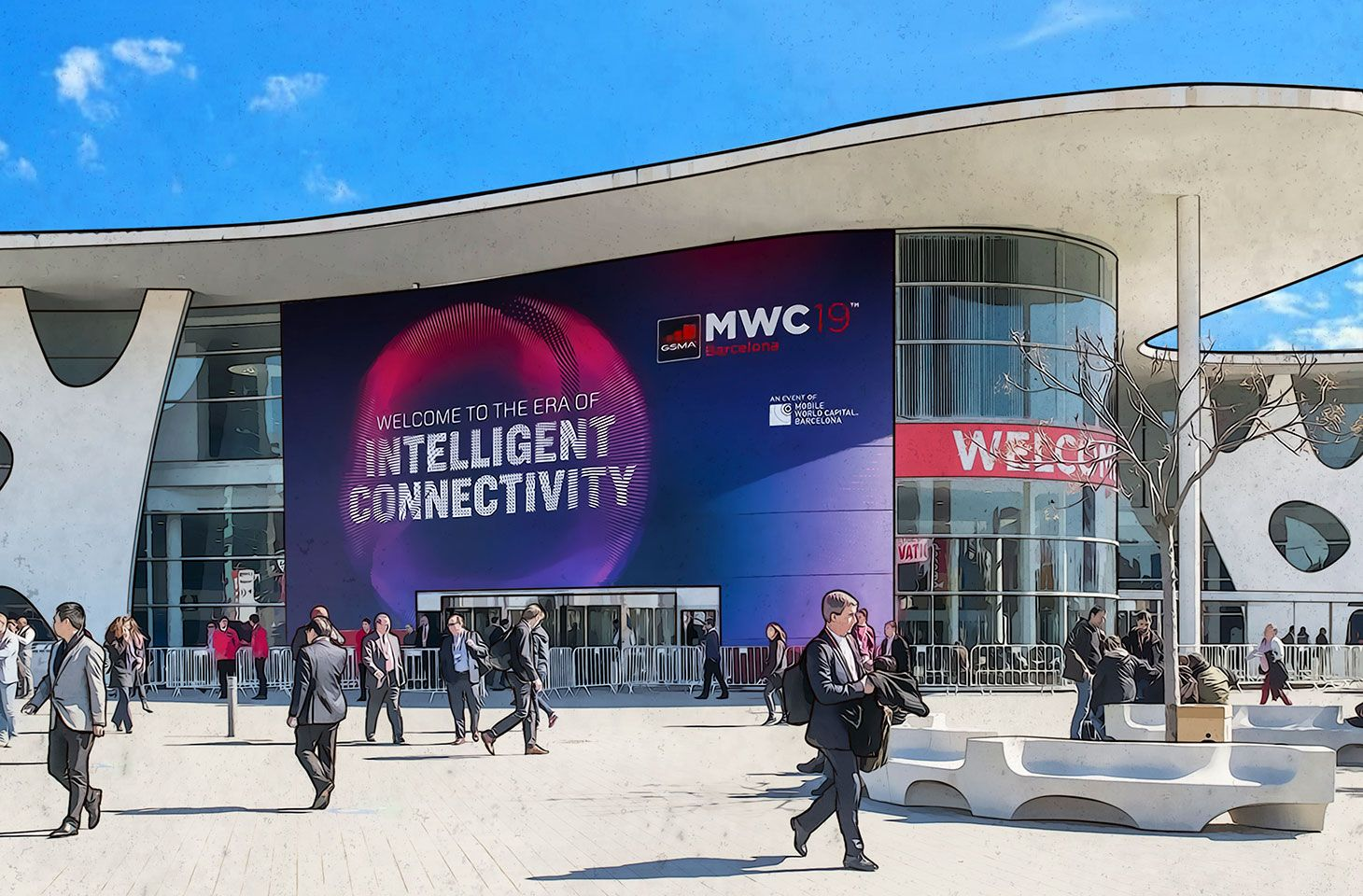 Riassunto delle migliori novità che abbiamo visto al Mobile World Congress 2019: 5G, Internet delle Cose, sensori a ultrasuoni delle impronte digitali e intelligenza artificiale.
