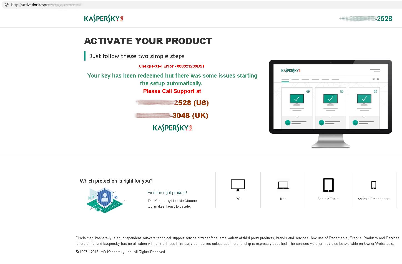 """Questo falso servizio di assistenza di Kaspersky Lab si offre di risolvere vari """"problemi"""" per telefono."""