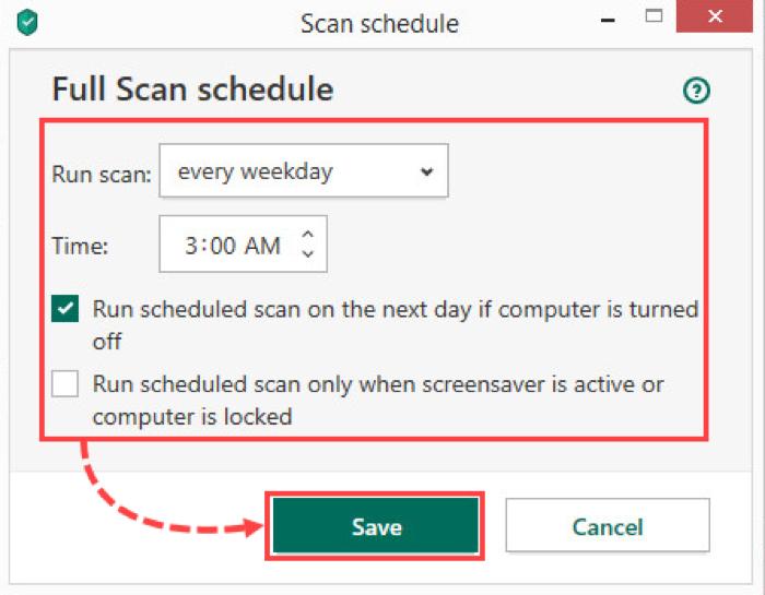 Impostare la programmazione dell'analisi antivirus affinché non interrompa le vostre sessioni di gioco.