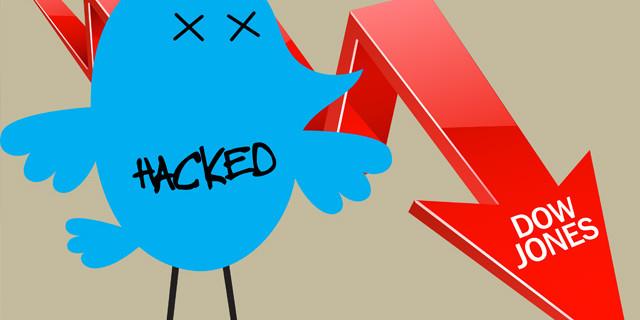 Падение Dow ones после взлома Twitter