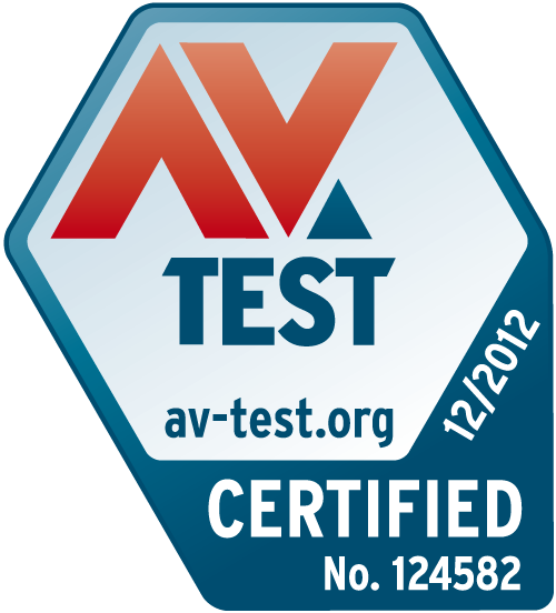 AV-TEST certificate for Kaspersky