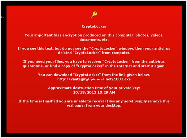 Привем сообщения криптолокера