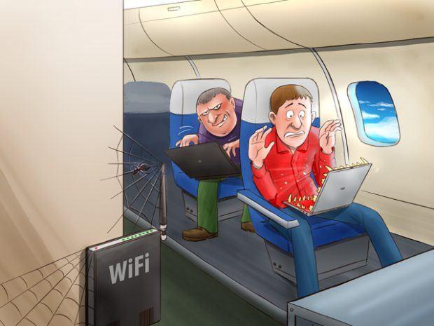 Стоит ли опасаться беспроводных сетей в самолёте?