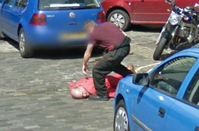 """""""Убийство"""" на снимках Google Street View"""