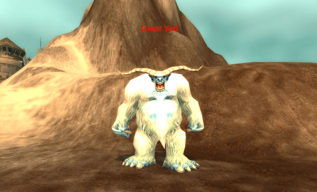 Йети. Большой и страшный (скриншот из игры World of Warcraft)