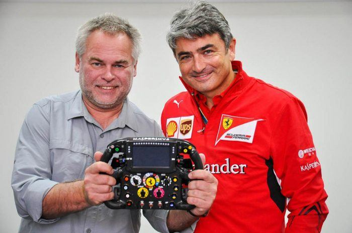 Kaspersky Mattiacci Ferrari F1 Steering Wheel