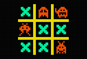 Playing Tic-tac-toe with Virus