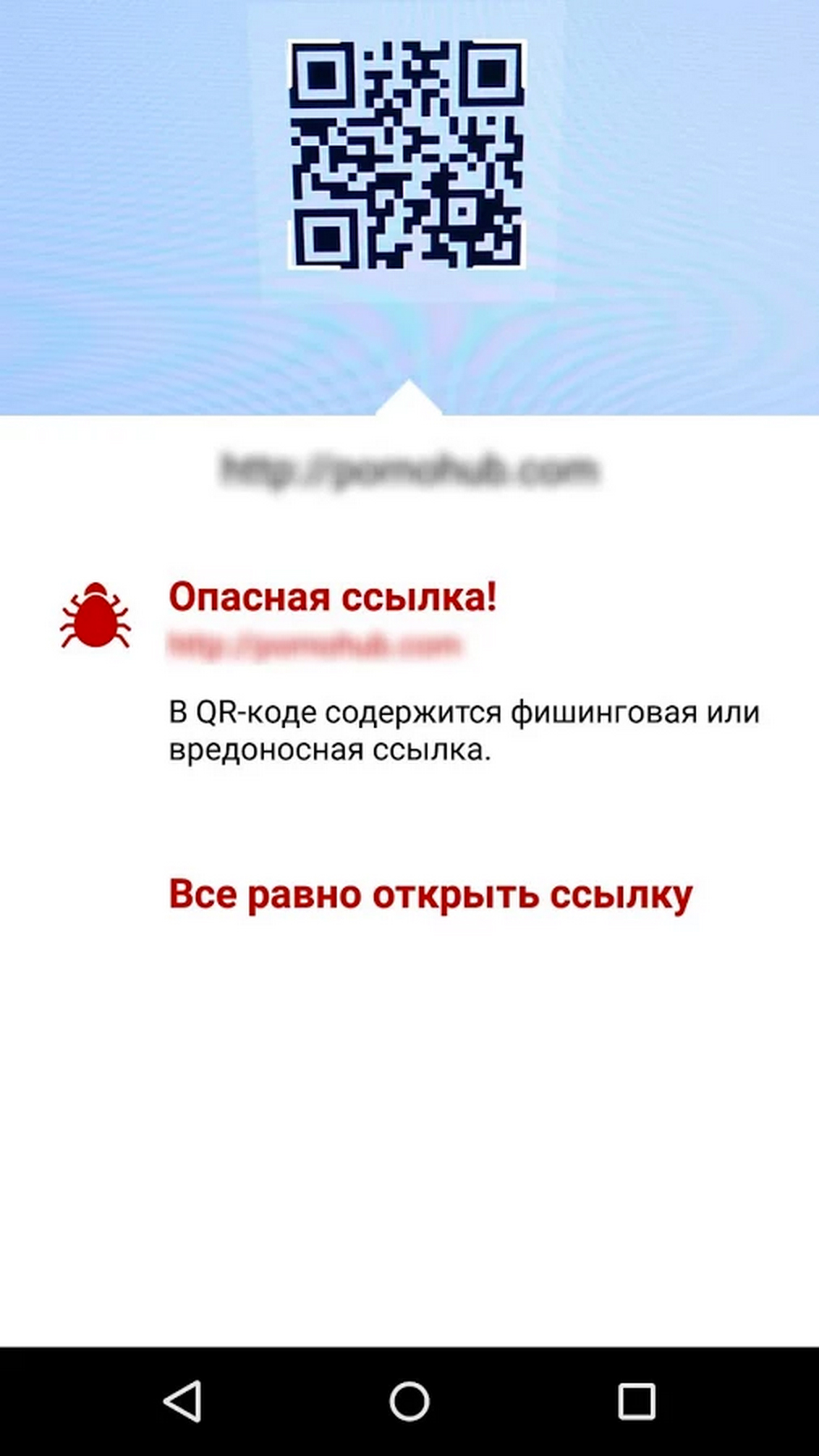 Kaspersky QR Scanner App Screenshot 2