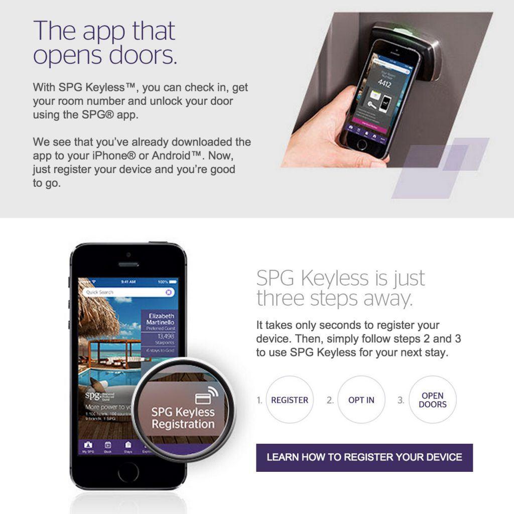 Сеть отелей Starwood предлагает открывать двери номеров с помощью приложения в смартфоне
