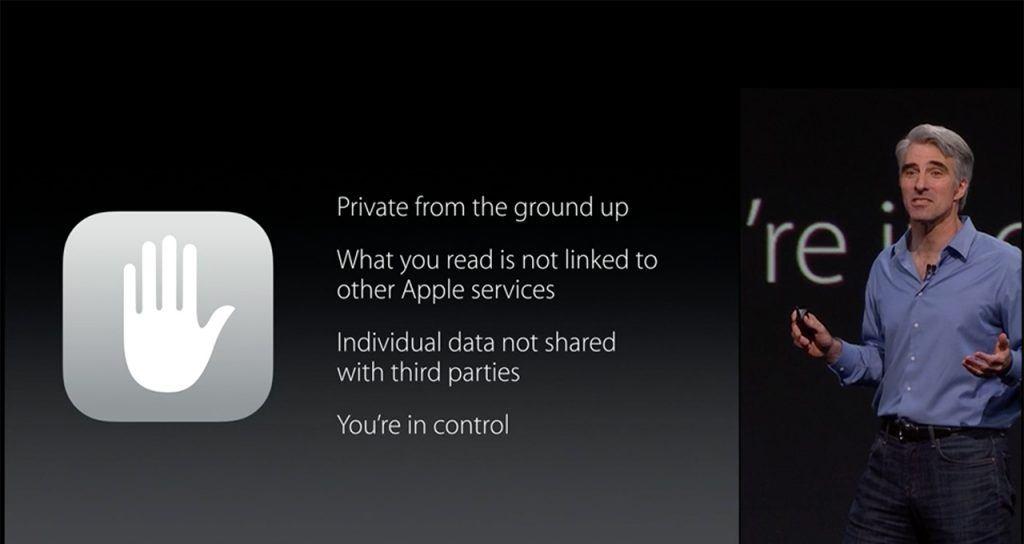 Apple обещает более безопасное и конфиденциальное хранение пользовательских данных, чем у других ребят