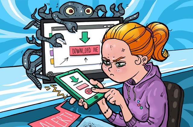 Не попадись на крючок в Интернете: берегись вирусов