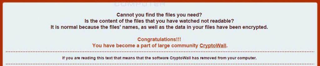 Маркетинг от кибермошенников - авторов CryptoWall