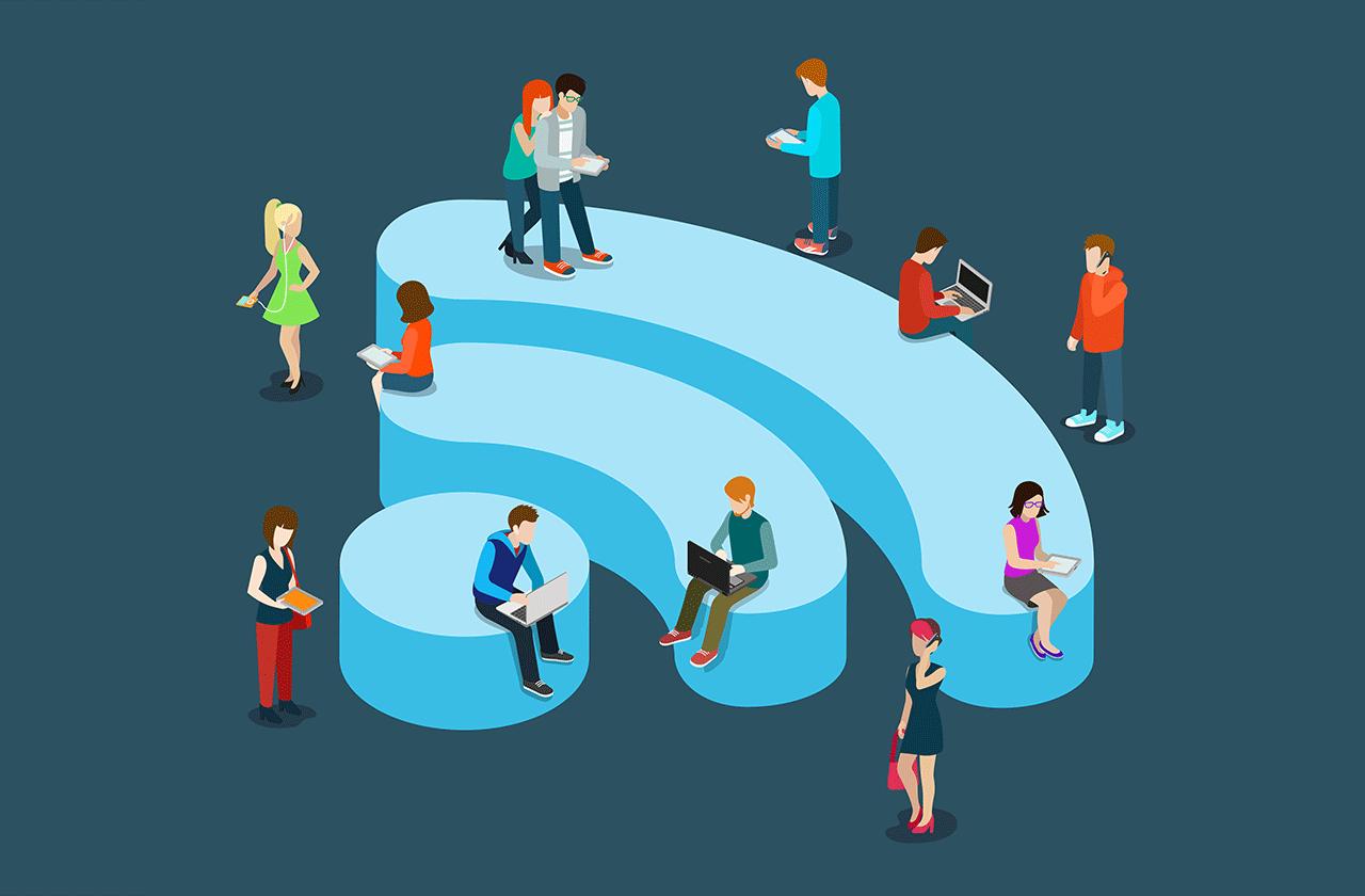 Картинки по запросу Wi-Fi торговый центр смартфон иллюстрация