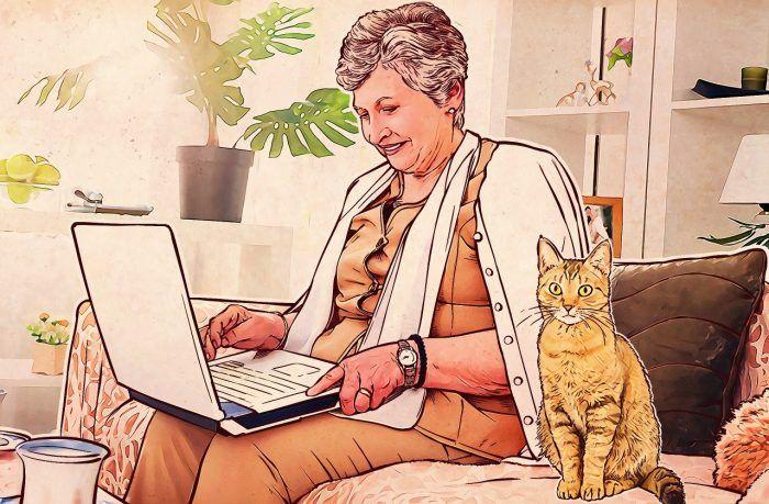 Пожилые люди в Интернете: страхи и реальность