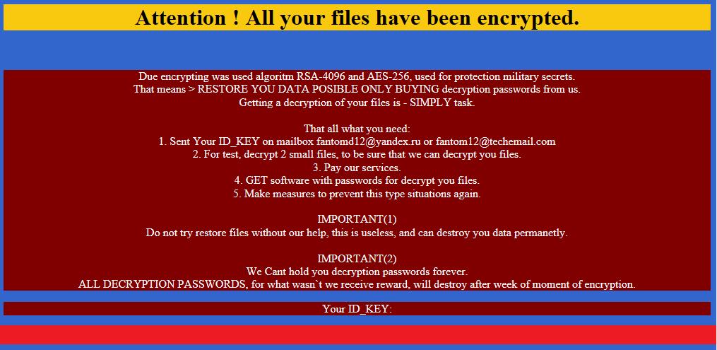 Fantom: шифровальщик, прикидывающийся обновлением Windows