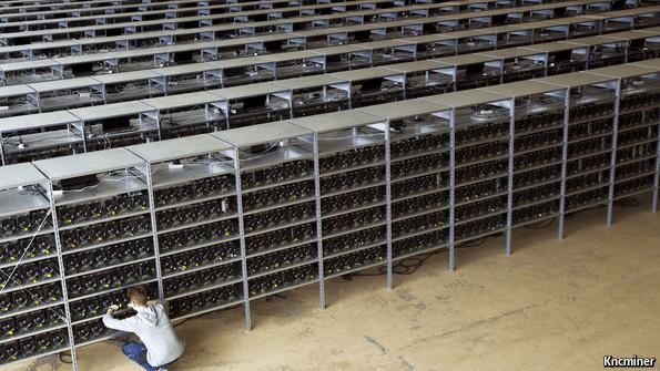 Промышленная ферма для майнинга криптовалют