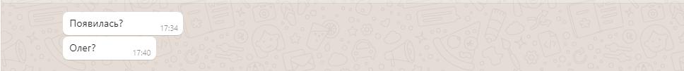 Общение с мошенниками на интернет-барахолке через WhatsApp