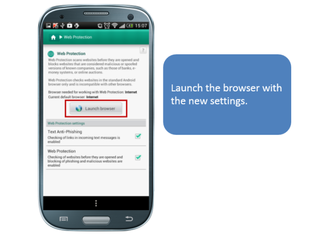 KIS Android: Setting Up Safe Browsing | Kaspersky official blog