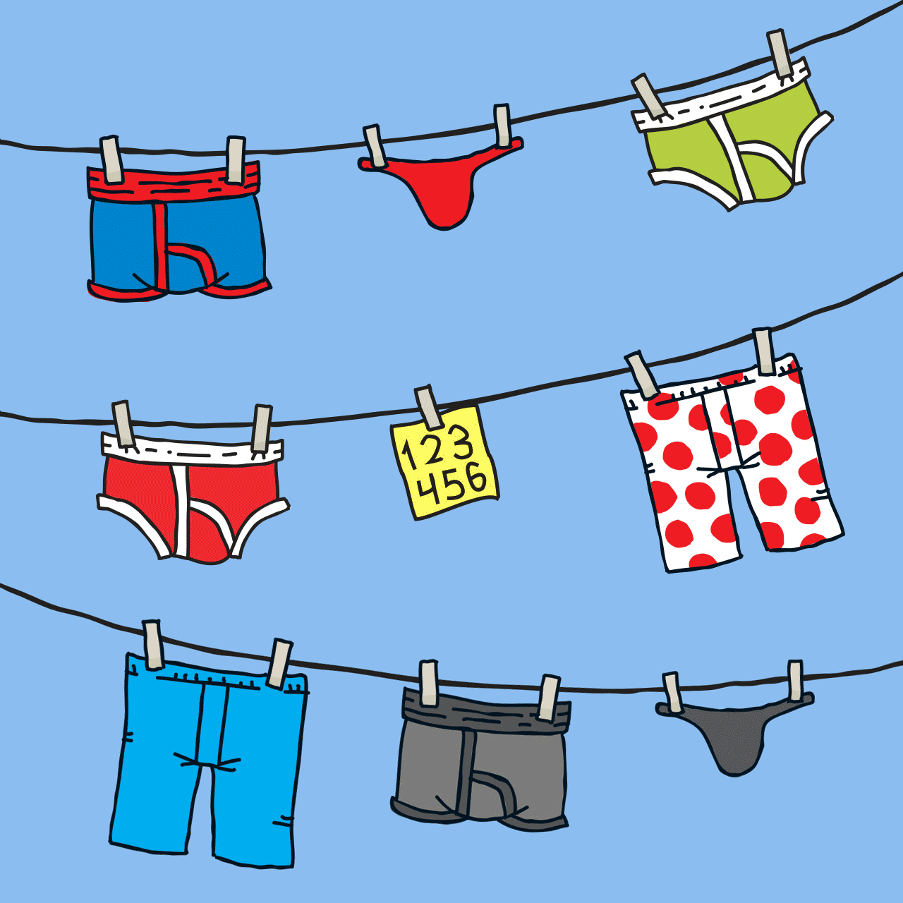 Treat your passwords as delicately as you treat your underwear