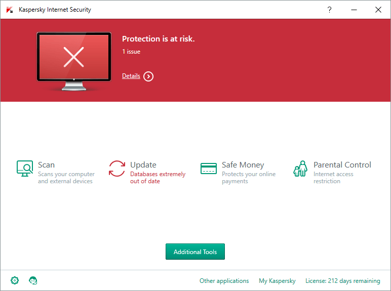kaspersky updating problem