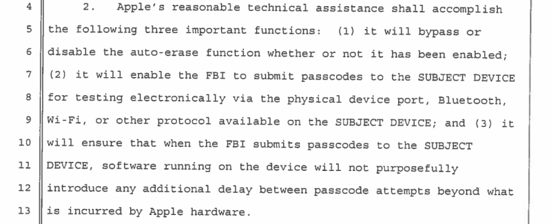 What FBI wants from Apple
