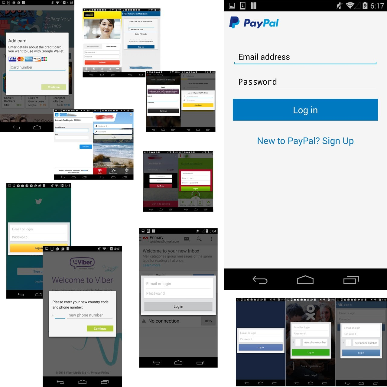 Acecard trojan phishing overlays
