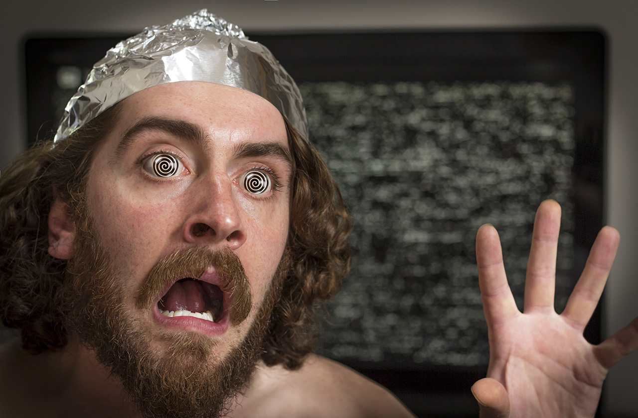 What's going to protect you from invisible enemies? A tin foil hat, of course!