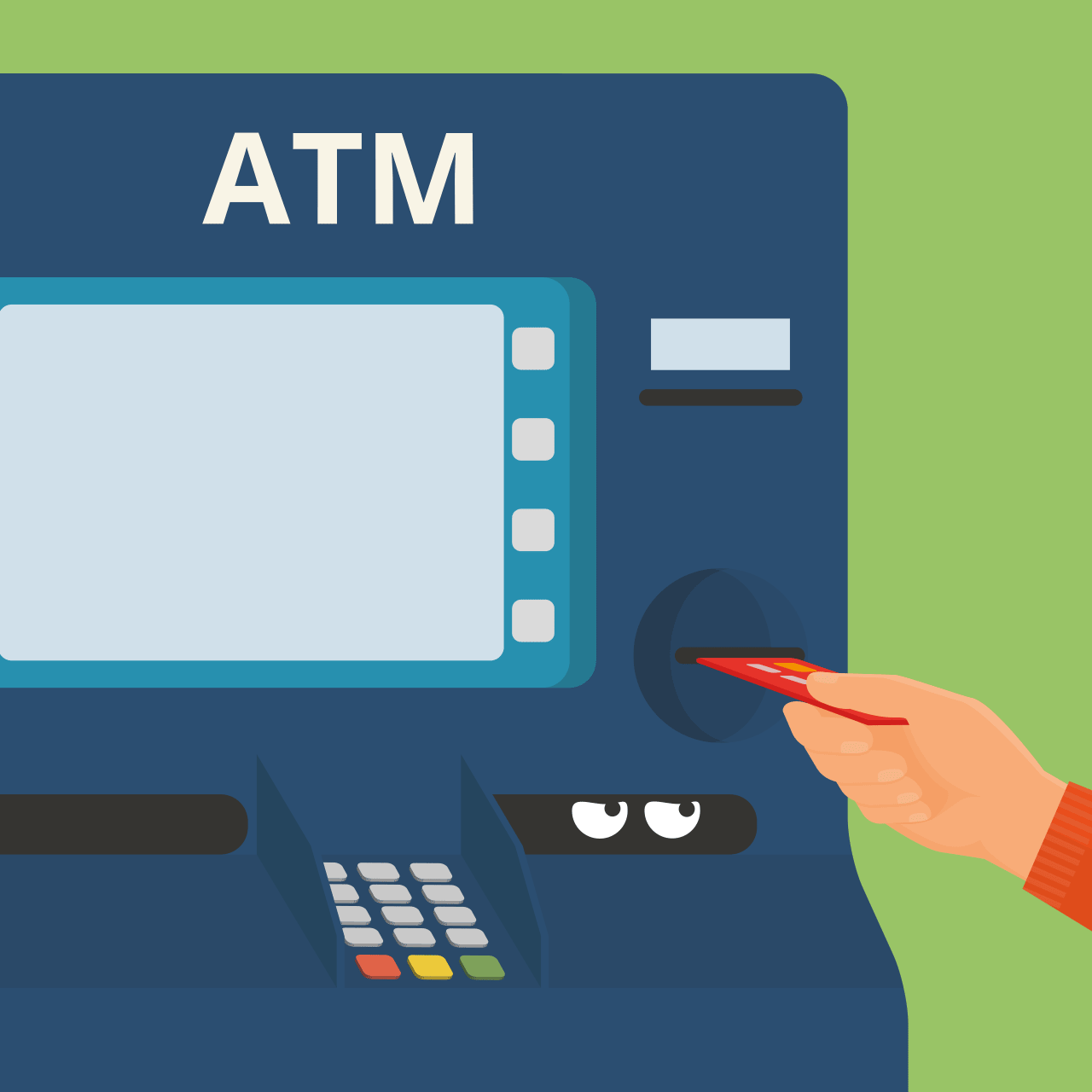 Invisible skimmers at the ATMs