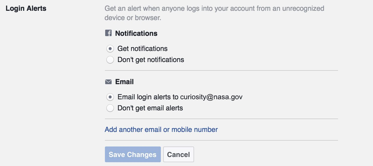 Facebook security settings guide
