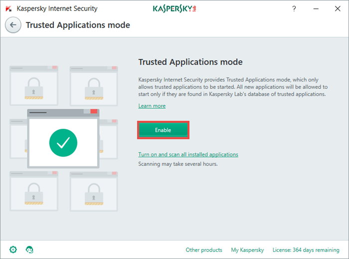 You can read more about Trusted Applications mode in our Knowledge Base.