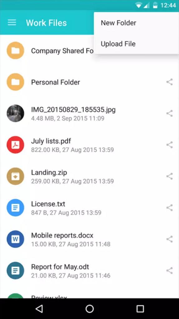 dropbox dateien herunterladen android