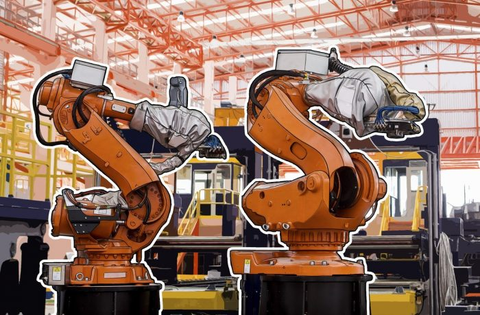 Thousands of factories around the world employ robots whose mechanical manipulators move boxes around, drill through parts, and perform other actions by following preprogrammed routines.