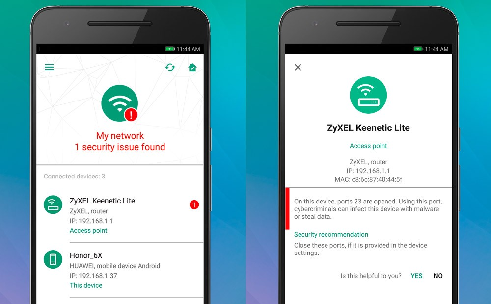 The Kaspersky IoT Scanner app helps you secure your smart