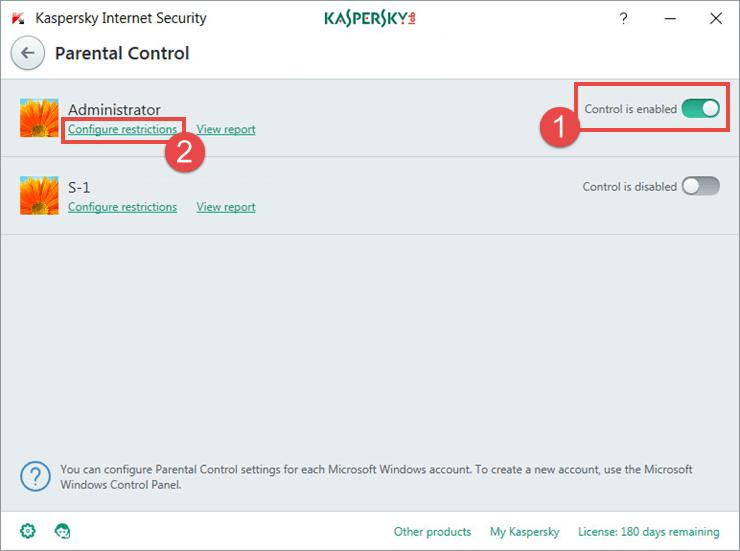 whitelist website kaspersky