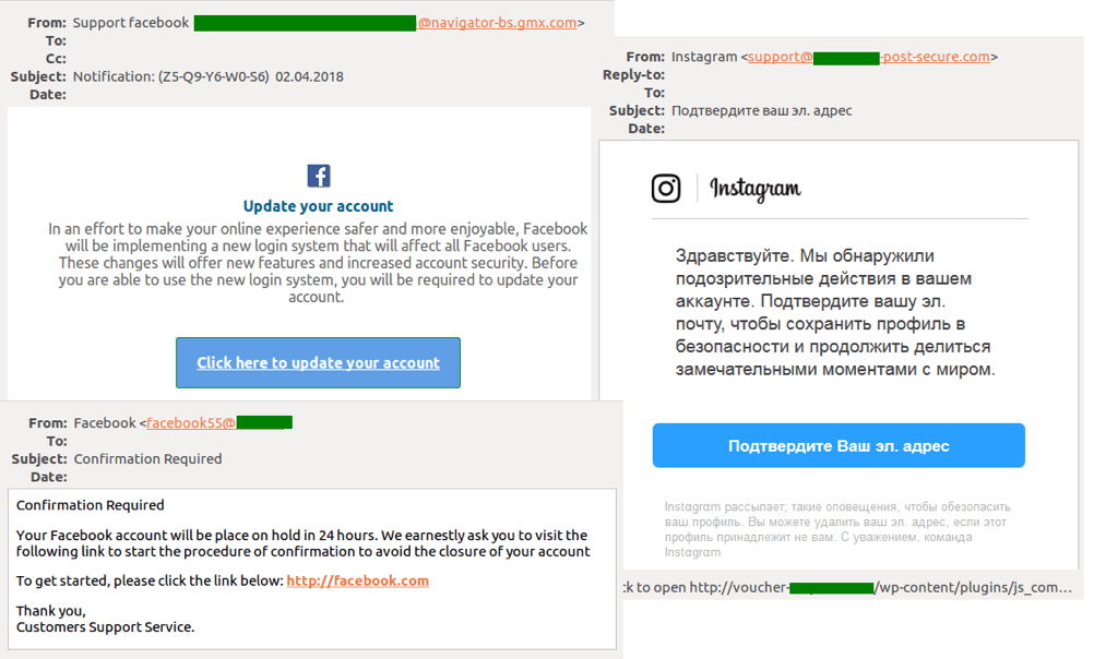Phishers most popular tricks: Fake notifications from social networks