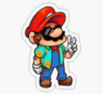 This image of Mario contains malicious code that downloads malware